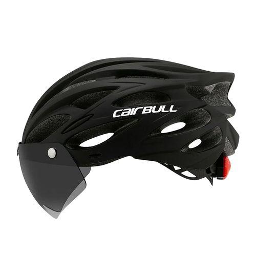 Casco multi deportivo Cairbull M/L 3 en 1 visor y visera extraíble, 22 salidas 54-61 cm, negro