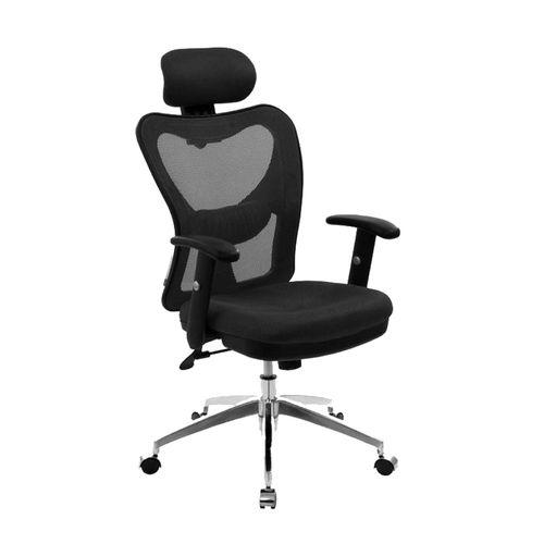 Silla de oficina ejecutiva Proshopper respaldar y cabecera en malla, 150 kg, negro