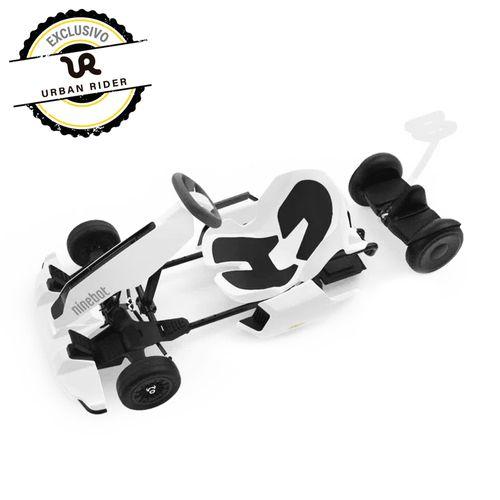 Pack Gokart Kit blanco + Patinete S negro, vel. máxima: 24 km/h, autonomía: 15 km, ajustable para personas entre 1.30 y 1.90 mts, tolerancia: 100 kg