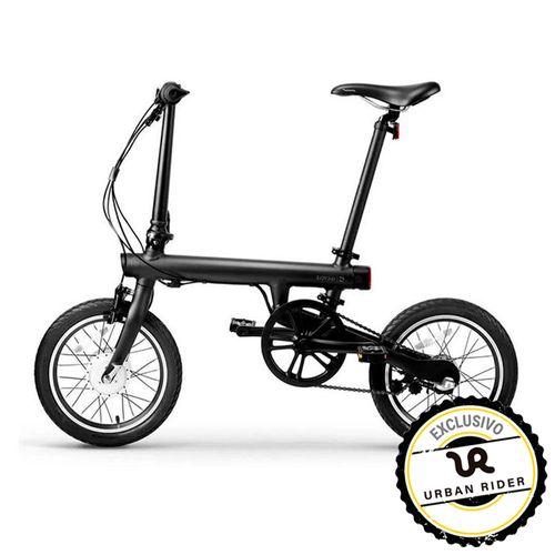 "Bicicleta electrica plegable MiQicycle EF1 negro, autonomia 45 km, vel max 25 km/h, llantas de 16"", luz delantera y posterior, pantalla, ligera (14kg)"
