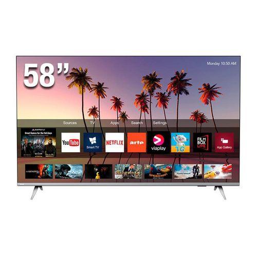 "Televisor Led 4K Ultra HD, Smart TV, borderless, pantalla de 58"""
