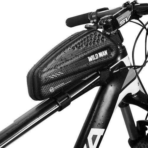 Bolso de bicicleta Wildman marco frontal, 1 litro, poliuretano