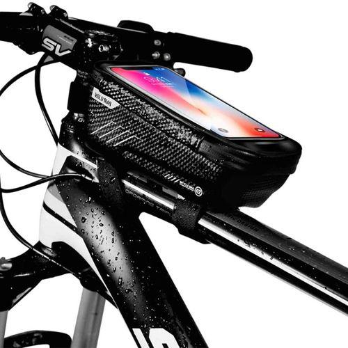 """Bolso de bicicleta Wildman impermeable, 6.5"""", soporte para pantalla táctil"""