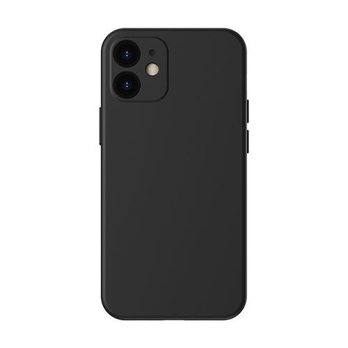 """Case para Iphone 12, 5.4"""", gel de silicona, negro"""