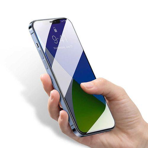 "Protector de Pantalla Iphone 12, 6.1"", vidrio templado, anti-azul, 0.3 mm - pack x2"