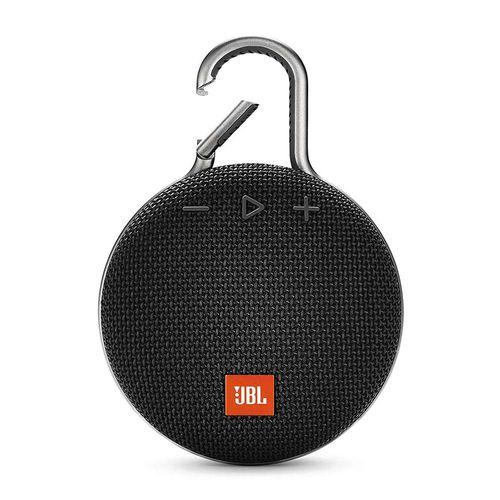 Parlante Bluetooth CLIP 3, mosquetón integrado, resistente al agua IPX7, hasta 10 horas de reproducción - negro