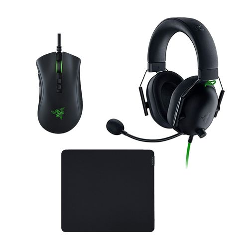 Kit gaming Razer Mouse Dethadder V2 + headset Blackshark V2 X + mousepad Gigantus V2 M