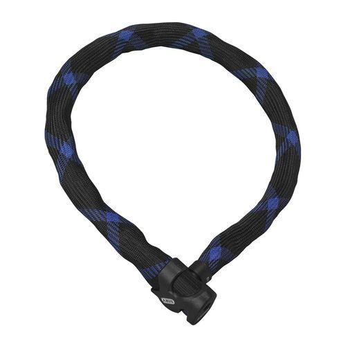 Cable Ivera 7210/85, negro/azul, cadena cuadrada 7mm con funda de fibra sintética IvyTex funcional, acero endurecido, longitud 85cm, bloqueo con llave