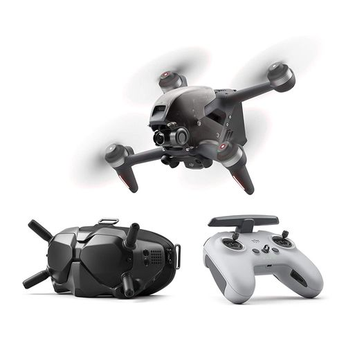 Drone DJI FPV semiprofesional, 1440 × 810, 12MP, vuelo 20 min, 4 roteres, distancia máx 10km + Gafas FPV V2 + Control remoto 2 DJI FPV