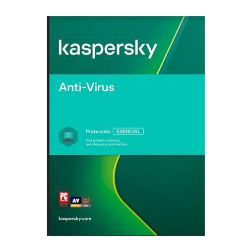 Antivirus Kaspersky, protección esencial, 5 dispositivo, 1 año
