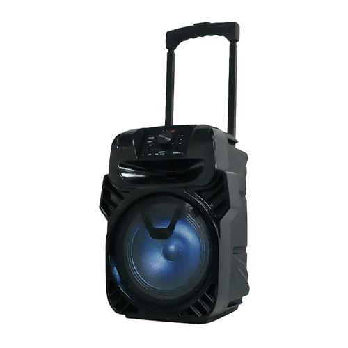 Parlante bluetooth Izuum Trolley con asa y ruedas, led, batería recargable