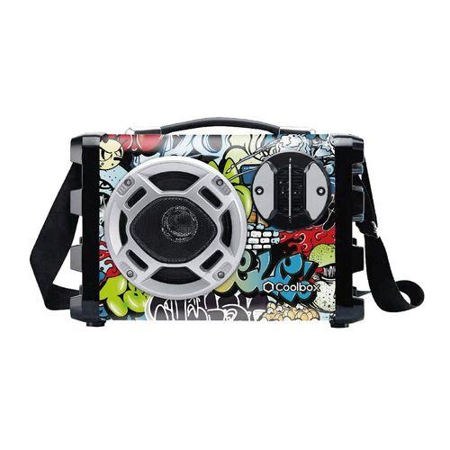 Parlante bluetooth karaoke Coolbox con correa, batería recargable