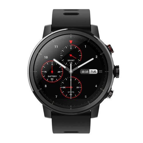 Smartwatch Amazfit Stratos,bisel de cerámica , 5 atm resistente al agua , duración de la batería de hasta 5 días, música a bordo, color negro