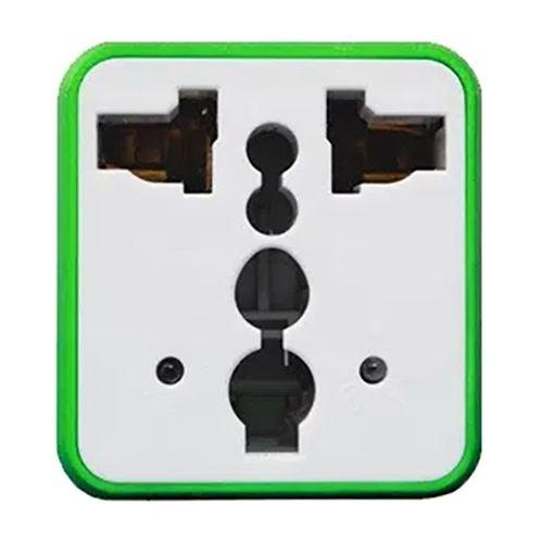 Adaptador universal de viaje Coolbox verde