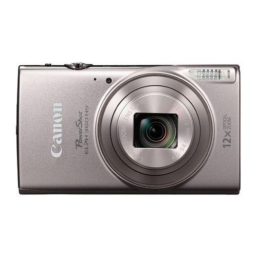 Cámara Canon Powershot ELPH 360 HS Full HD 20MP plata