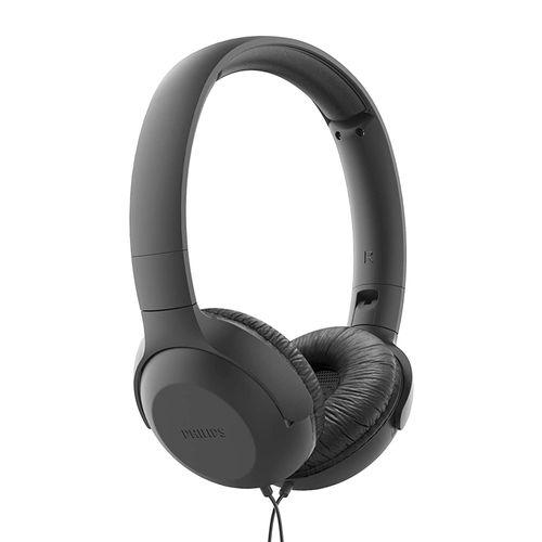 Audífono On Ear Philips TAUH201BK con micrófono alámbrico negro