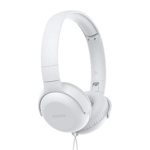 Audífono On Ear Philips TAUH201WT con micrófono alámbrico blanco