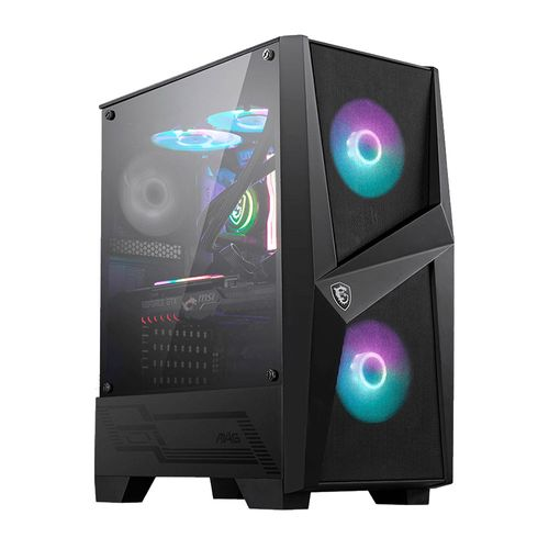 Case MSI Mag Forge 100R ARBG Mid Tower, cristal templado lateral