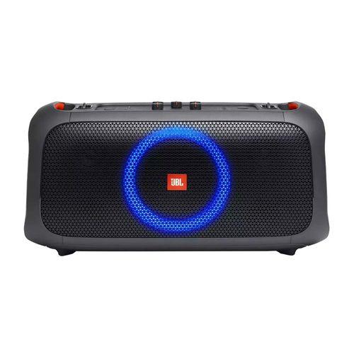 Parlante JBL Partybox on the go bluetooth portátil, 100 w, ipx4, apróx. 6 horas, negro