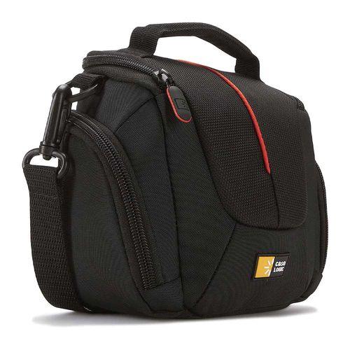 Estuche Case Logic DCB-304 para cámara fotográfica high zoom, bolsillos laterales, acolchado, negro