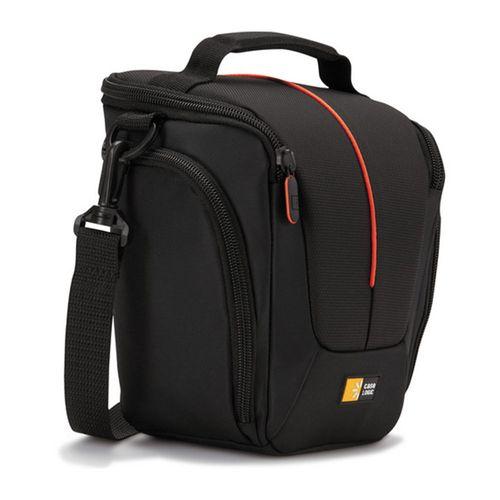Estuche Case Logic DCB-306 para cámara fotográfica SLR, bolsillos laterales, base acolchada, negro