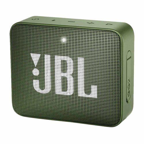 Parlante bluetooth JBL Go 2 IPX7, máx. 5 horas, verde