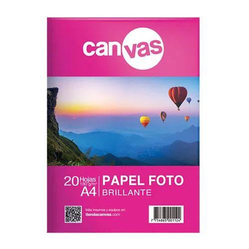 Papel fotográfico brillante Canvas 20 hojas A4 180g