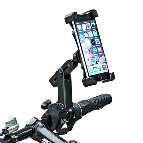 Soporte de celular para bicicleta Star United articulado, ajustable, negro