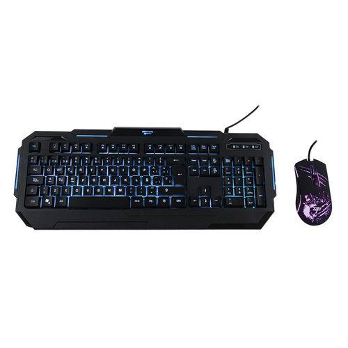 Kit gaming Teraware teclado membrana + mouse conexión usb, RGB