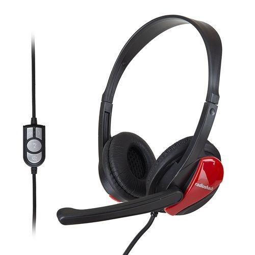 Audífono Radioshack con micrófono, sonido estéreo, conexión usb