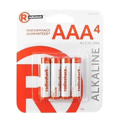 Pilas alcalinas Radioshack AAA x4