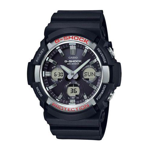 Reloj Casio G-Shock GAS-100-1A para hombre, resina y aluminio, negro