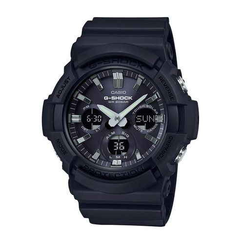 Reloj Casio G-Shock GAS-100B-1A para hombre, resina y aluminio, negro