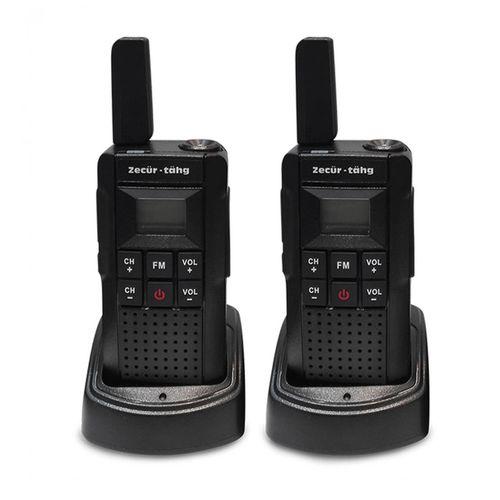 Radio frs Zecur Tahg V2-BLACK set de 2, 14 canales, alcance 25 km, IP54, aprox. 26 horas