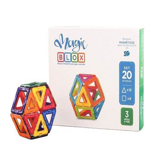 Bloques magnéticos Magic Blox 3+ multicolor