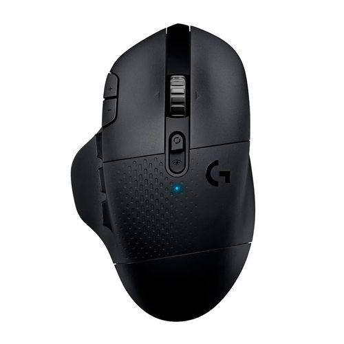 Mouse gaming inalámbrico Logitech G604 Lightspeed, bluetooth, 1600 dpi, 15 botones, usa pila, negro