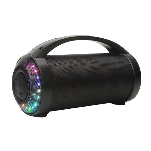 Parlante bluetooth Decibel E11H portátil 9w, luces fiesta, negro
