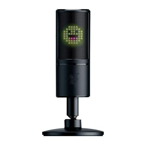 Micrófono Razer Seiren, pantalla LED de Emoticons 8 Bits