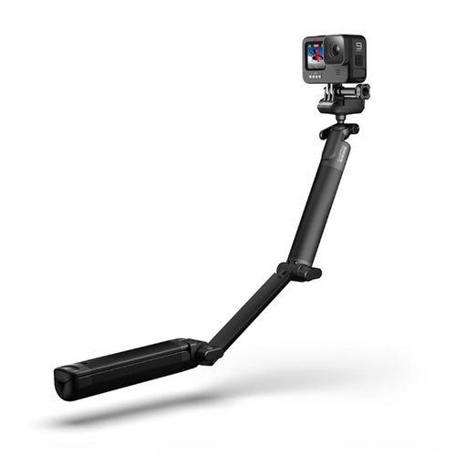 Trípode 3 en 1 GoPro 3 Way 2.0, empuñadura, trípode y brazo de extensión, hasta 49.5 cm, 360°, negro