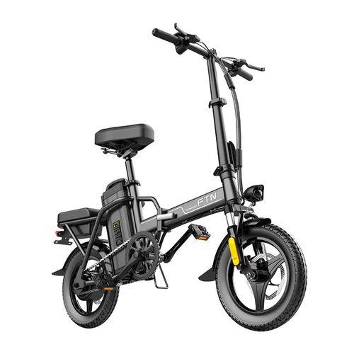 Bicicleta eléctrica plegable Coswheel FTN T5S autonomía 60-70 km, 350W, vel. 20-25 km/h, 120 kg, negro