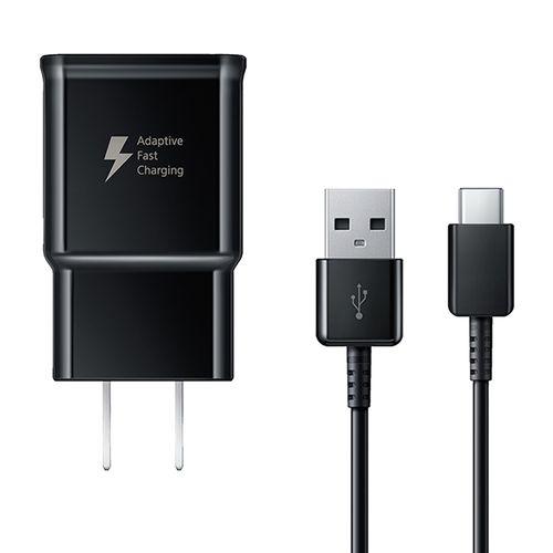 Cargador de pared Samsung, cable usb a tipo C, 15W, carga rápida, negro
