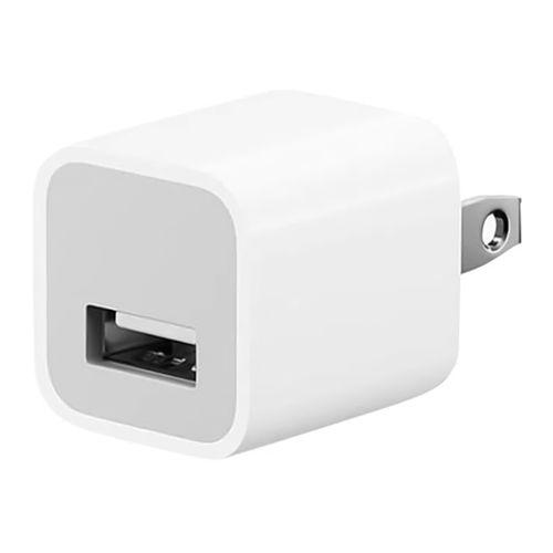 Adaptador de carga Apple, 1 puerto usb, 5W, carga rápida, blanco