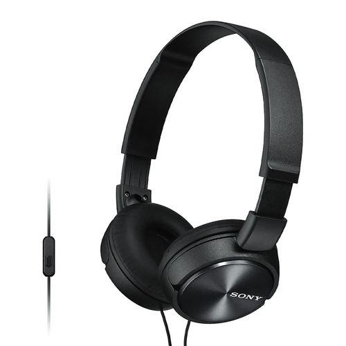 Audífono on ear con micrófono Sony MDRZX310AP almohadillas acolchadas, conector 3.5 mm, control de llamadas, negro
