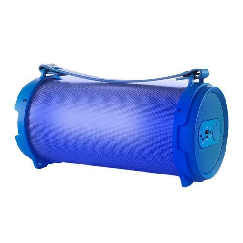Parlante bluetooth Decibel Bass con subwoofer, led, batería recargable, azul