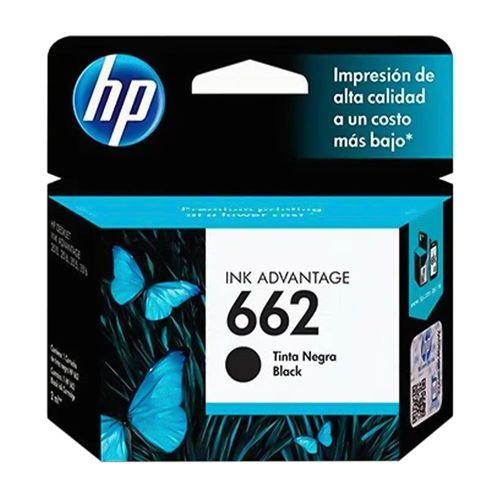 Cartucho de tinta  HP 662 Advantage negro rinde 120 páginas