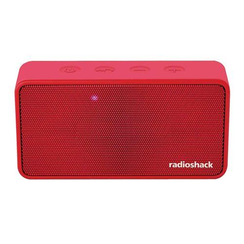 Parlante bluetooth Radioshack 3w, radio am/fm, máx. 4 horas, rojo
