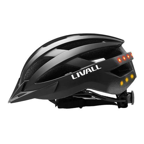 Casco ciclista Livall MT1 L bluetooth, 8 LED posteriores, 21 salidas, 58-62 cm, negro mate