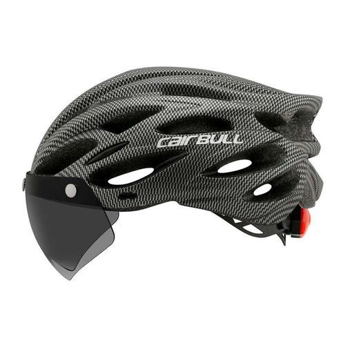 Casco multi deportivo Cairbull M/L 3 en 1 visor y visera extraíble, 22 salidas 54-61 cm, gris