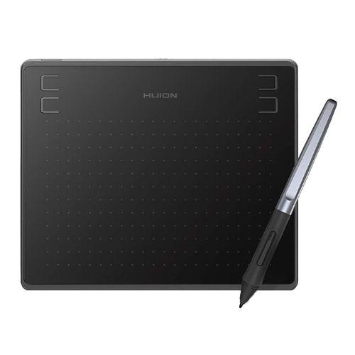 "Tableta gráfica Huion Inspiroy HS64, área de trabajo 6.3 x 4"" + incluye lápiz PW100, negro"