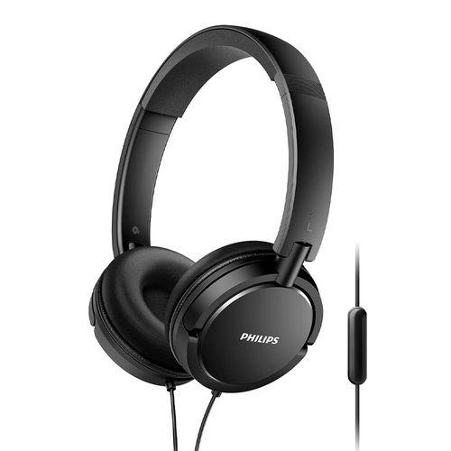 Audífono on ear con micrófono Philips SHL5005 almohadillas acolchadas, conector 3.5 mm, control de música y llamadas, negro